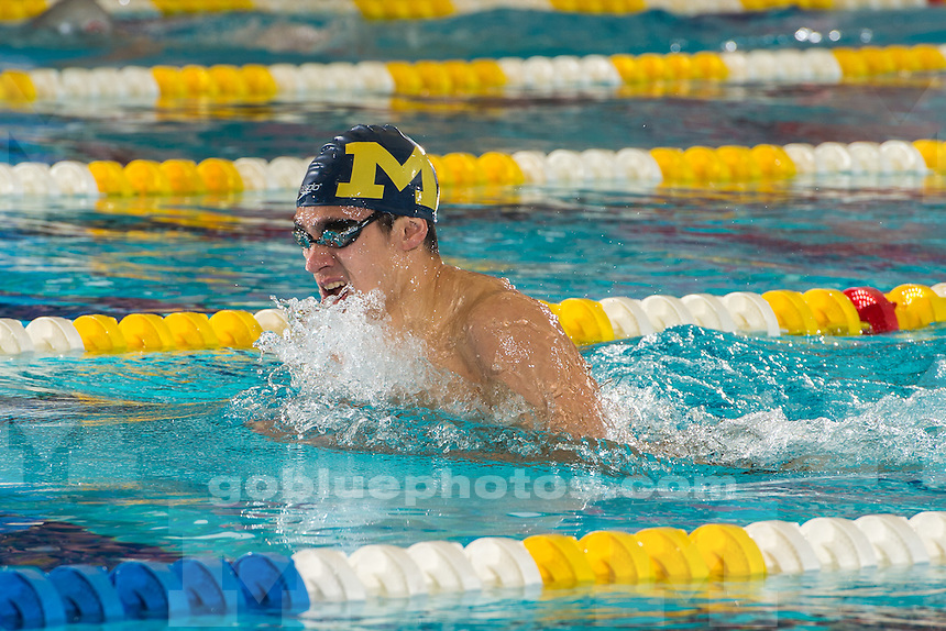 The University of Michigan men's swimming and diving team; 183-117 victory over Ohio State University at Canham Natatorium in Ann Arbor, Mich., on Jan. 24, 2015.