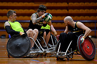 Jayden Warn (AUS)<br /> Australian Steelers WC Training Camp<br /> Australian Wheelchair Rugby Team<br /> Australian Paralympic Committee<br /> Darwin NT / NTIS Stadium<br /> Monday 16 July 2018<br /> &copy; Sport the library / Jeff Crow