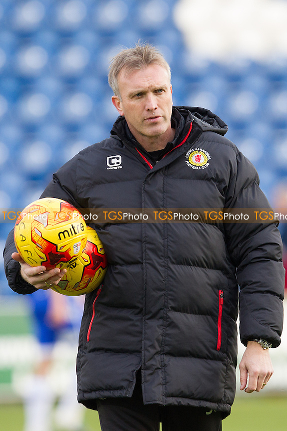 Steve Davis, Manager of Crewe Alexandra during Colchester United vs Crewe Alexandra, Sky Bet EFL League 2 Football at the Weston Homes Community Stadium on 26th November 2016