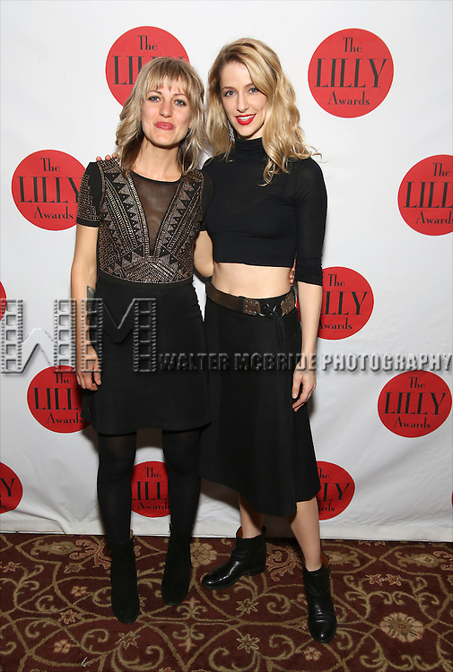 Anais Mitchell and Erica Sweany attends The Lilly Awards Broadway Cabaret at the Cutting Room on October 17, 2016 in New York City.