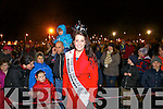 Rose of Tralee Nicola McEvoy watching the Fireworks display at the Aquadome in Tralee on New Years Eve.