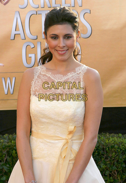 JAMIE LYNN Di SCALA.Red Carpet Arrivals at the 11th Annual Screen Actors Guild Awards (SAG) held at the Shrine Auditorium, .Los Angeles, California, USA,.half length bow yellow dress  sheer lace discala.Ref: ADM.www.capitalpictures.com.sales@capitalpictures.com.©J.Wong/AdMedia/Capital Pictures .