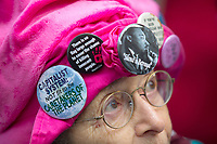 SEATTLE, WA - JANUARY 21: Hilda Kipnis, a member of the Raging Grannies, joins other during the Womxn's March on Seattle a day after the inauguration of President Donald Trump on January 21, 2017 in Seattle, Washington. Women's marches were held around the country in protest of the newly elected president and in support of human rights and women's rights. 60,000 people were expected to attend. (Photo by Karen Ducey/Getty Images)