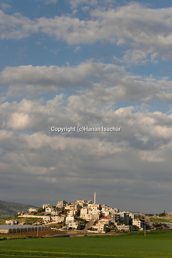 Israel, the Lower Galilee. The Arab village Romana in Beth Natofa valley.