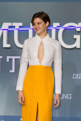 Shailene Woodley attending the Insurgent premiere, held at CineStar, Sony Center, Berlin, Germany, 13.03.2015. <br /> Photo by Christopher Tamcke/insight media /MediaPunch ***FOR USA ONLY***