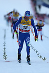 Cross Country Ski World Cup 2018 FIS in Val Di Fiemme, on January 6, 2018; Tour de ski; Men 15.0 Km Mass Start Classic; Francesco De Fabiani