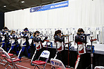 COLUMBUS, OH - MARCH 11: Student-athletes compete during the Division I Rifle Championships held at The French Field House on the Ohio State University campus on March 11, 2017 in Columbus, Ohio. (Photo by Jay LaPrete/NCAA Photos via Getty Images)