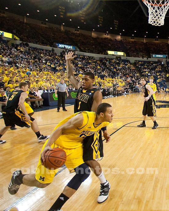 University of Michigan men's basketball 87-73 victory over Iowa At Crisler Arena in Ann Arbor, MI, on January 30, 2011.