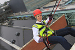 Karen McCluskey at the DAR abseil off the D Hotel..(Photo credit should read Jenny Matthews www.newsfile.ie)....This Picture has been sent you under the conditions enclosed by:.Newsfile Ltd..The Studio,.Millmount Abbey,.Drogheda,.Co Meath..Ireland..Tel: +353(0)41-9871240.Fax: +353(0)41-9871260.GSM: +353(0)86-2500958.email: pictures@newsfile.ie.www.newsfile.ie.