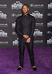HOLLYWOOD, CA - JANUARY 29: Actor Michael B. Jordan attends the premiere of Disney and Marvel's 'Black Panther' at  the Dolby Theater on January 28, 2018 in Hollywood, California.