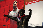 Liverpool manager Jurgen Klopp appears above the Bill Shankly statue outside the Premier League match at Anfield Stadium, Liverpool. Picture date: December 11th, 2016.Photo credit should read: Lynne Cameron/Sportimage
