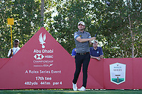 Bernd Wiesberger (AUT) on the 17th tee during Round 3 of the Abu Dhabi HSBC Championship at the Abu Dhabi Golf Club, Abu Dhabi, United Arab Emirates. 18/01/2020<br /> Picture: Golffile | Thos Caffrey<br /> <br /> <br /> All photo usage must carry mandatory copyright credit (© Golffile | Thos Caffrey)