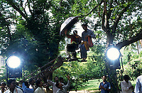 INDIA, Chennai Madras, Mallywood the tamil film industry, film shooting in AVM studios / INDIEN, Chennai frueher Madras, Filmset im AVM Filmstudio, die Filmindustrie in Tamil Nadu wird auch Mallywood genannt