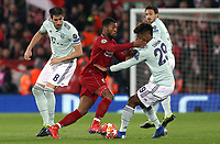 Liverpool's Georginio Wijnaldum battles with Bayern Munich's Kingsley Coman<br /> <br /> Photographer Rich Linley/CameraSport<br /> <br /> UEFA Champions League Round of 16 First Leg - Liverpool and Bayern Munich - Tuesday 19th February 2019 - Anfield - Liverpool<br />  <br /> World Copyright © 2018 CameraSport. All rights reserved. 43 Linden Ave. Countesthorpe. Leicester. England. LE8 5PG - Tel: +44 (0) 116 277 4147 - admin@camerasport.com - www.camerasport.com