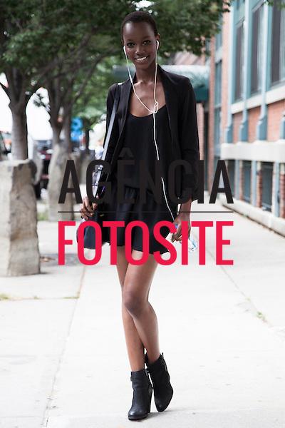 Nova Iorque, EUA &sbquo;10/09/2013 - Moda de rua durante a Semana de moda de Nova Iorque  -  Verao 2014. <br /> Foto: FOTOSITE