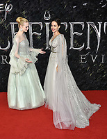 Elle Fanning, Angelina Jolie<br /> 'Maleficent: Mistress of Evil'  UK film premiere at the BFI Imax Waterloo, London England on October 09, 2019.<br /> CAP/Phil Loftus<br /> ©Phil Loftus/Capital Pictures /MediaPunch ***FOR USA ONLY***