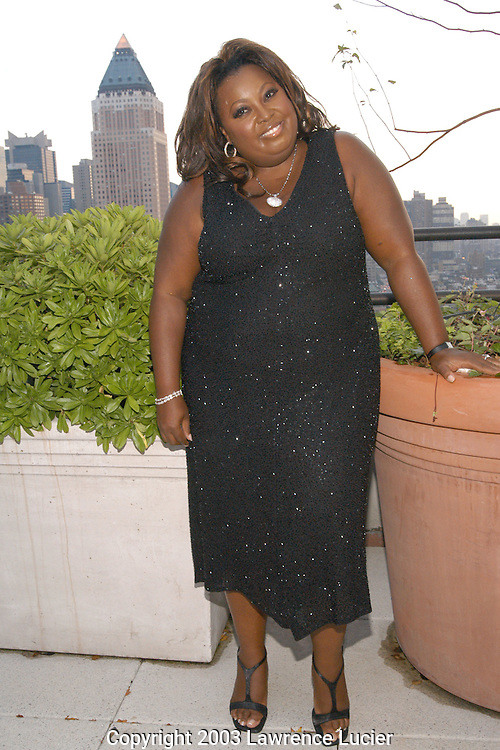 "NEW YORK - AUGUST 6: Television personality Star Jones appears August 6, 2003, at the debut of her ""Starlet by Star Jones"" premier shoe collection at Ian Schrager's Hudson Hotel in New York City."