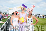 The Finalists in the best dressed lady were Grace Flynn, Pallaskenry, Co Limerick, Linda O'Brien, Tralee and Tasha O'Connor, Templeglantine, at the Listowel Races Ladies Day on Sunday