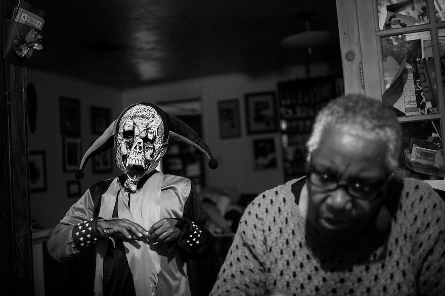 Cornelia Bailey's grandchildren prepare for Halloween on Sapelo Island. A member of the last generation of African Americans born and educated on Sapelo, Bailey is one of the most vocal defenders of her island and its Geechee heritage.