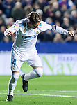 Sergio Ramos of Real Madrid celebrates after scoring his goal during the La Liga 2017-18 match between Levante UD and Real Madrid at Estadio Ciutat de Valencia on 03 February 2018 in Valencia, Spain. Photo by Maria Jose Segovia Carmona / Power Sport Images