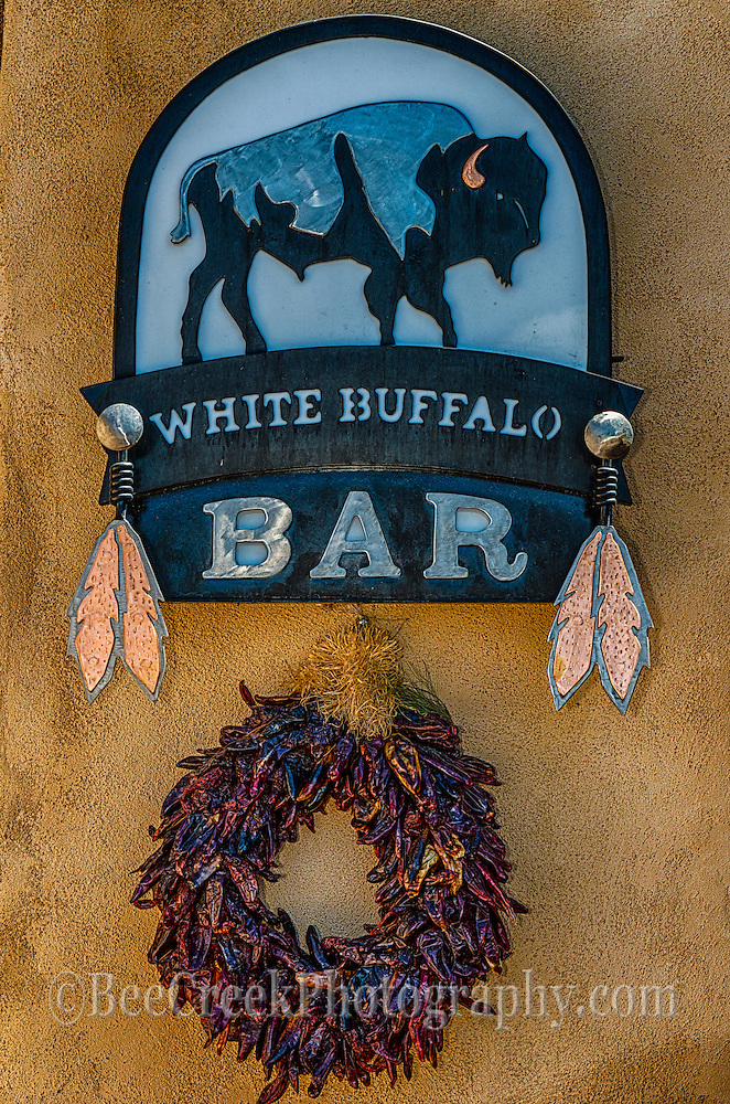 Gage Hotel White Buffalo bar