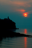 Split Rock lighthouse, Split Rock State Park, Minnesota, Lake Superior, sunrise.