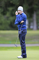 Matthew Fitzpatrick (ENG) misses his par putt on the 16th green during Sunday's fog delayed Round 3 of the 2017 Omega European Masters held at Golf Club Crans-Sur-Sierre, Crans Montana, Switzerland. 10th September 2017.<br /> Picture: Eoin Clarke | Golffile<br /> <br /> <br /> All photos usage must carry mandatory copyright credit (&copy; Golffile | Eoin Clarke)