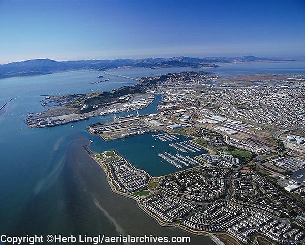 aerial photography Richmond, Contra Costa county California
