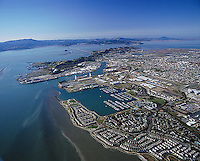 aerial photography Richmond, Contra Costa county California