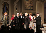 Rupert Grint, Stockard Channing, Matthew Broderick, Playwright Terrence McNally, Director Jack O'Brien, Megan Mullally and Nathan Lane during the Broadway Opening Night Performance Curtain Call for  'It's Only A Play'  at the Gerald Schoenfeld Theatre on October 9, 2014 in New York City.