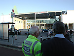 Protesters climb on the roof in protest at the opening of  the Said Business school - Oxford University. <br /> <br /> A £20,000,000 donation to the University from arms dealer ensures the building of the new business school, much to the disgust of Oxford residents. 6 of the 10 trustees were appointed by Said himself.
