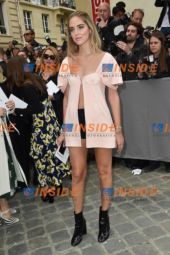 Chiara Ferragni <br /> Dior fashion show arrivals - Paris - 30/09/2016