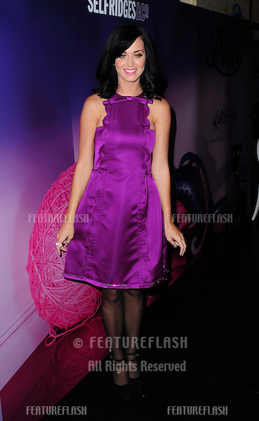 Katy Perry introduces her perfume 'PURR' at Selfridges in London. 12/11/2010  Picture by: Simon Burchell / Featureflash