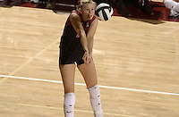 24 September 2005: Courtney Schultz during Stanford's 30-22, 31-29, 30-26 win against UCLA Bruins at Maples Pavilion in Stanford, CA.