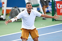 Washington, DC - August 4, 2019: Nick Kyrgios (AUS) screams out in celebration after defeating Daniil Medvedev (RUS) to win the Men's finals of the Citi Open at the Rock Creek Tennis Center, in Washington D.C. (Photo by Philip Peters/Media Images International)