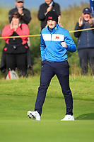 Sandy Scott (GB&I) on the 4th during the Foursomes at the Walker Cup, Royal Liverpool Golf CLub, Hoylake, Cheshire, England. 07/09/2019.<br /> Picture Thos Caffrey / Golffile.ie<br /> <br /> All photo usage must carry mandatory copyright credit (© Golffile | Thos Caffrey)