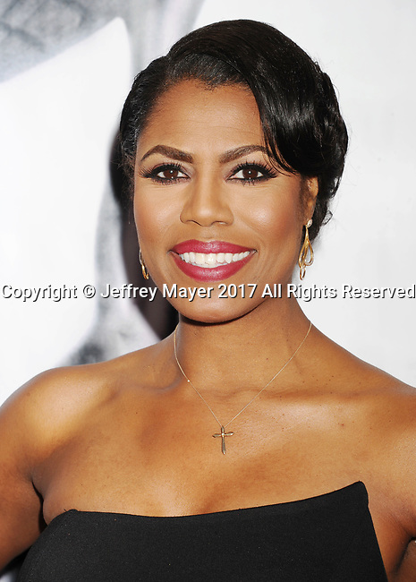 PASADENA, CA - FEBRUARY 11: TV personality Omarosa Manigault arrives at the 48th NAACP Image Awards at Pasadena Civic Auditorium on February 11, 2017 in Pasadena, California.