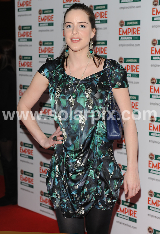 **ALL ROUND PICTURES FROM SOLARPIX.COM**.**WORLDWIDE SYNDICATION RIGHTS**.Red carpet arrivals at the Jameson Empire Awards 2010. Held at Grosvenor House, Mayfair, London, UK. 28 March 2010..This pic: Michelle Ryan..JOB REF: 10995 SSD    DATE: 28_03_2010.**MUST CREDIT SOLARPIX.COM OR DOUBLE FEE WILL BE CHARGED**.**MUST NOTIFY SOLARPIX OF ONLINE USAGE**.**CALL US ON: +34 952 811 768 or LOW RATE FROM UK 0844 617 7637**
