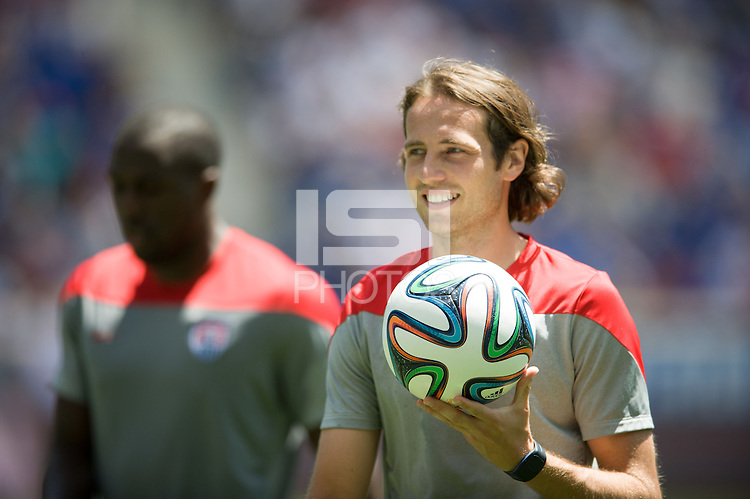 Harrison, NJ - Saturday, May 31,  2014:  USMNT Open Training at Red Bull Arena in Harrison, NJ.
