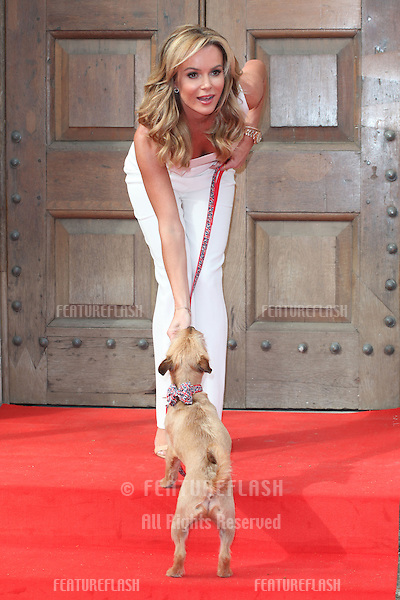 Amanda Holden and her dog Rudie attending a photocall for 'Britain's Got Talent' at St Luke's Church, London. 09/04/2014 Picture by: Alexandra Glen / Featureflash