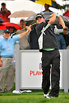 28 August 2009: Brian Gay tees off during the second round of The Barclays PGA Playoffs at Liberty National Golf Course in Jersey City, New Jersey.