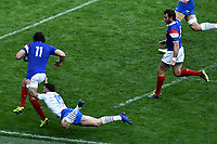 Yohann Huget France, Jayden Hayward Italy <br /> Roma 16-03-2019 Stadio Olimpico<br /> Rugby Six Nations tournament 2019  <br /> Italy - France <br /> Foto Andrea Staccioli / Insidefoto