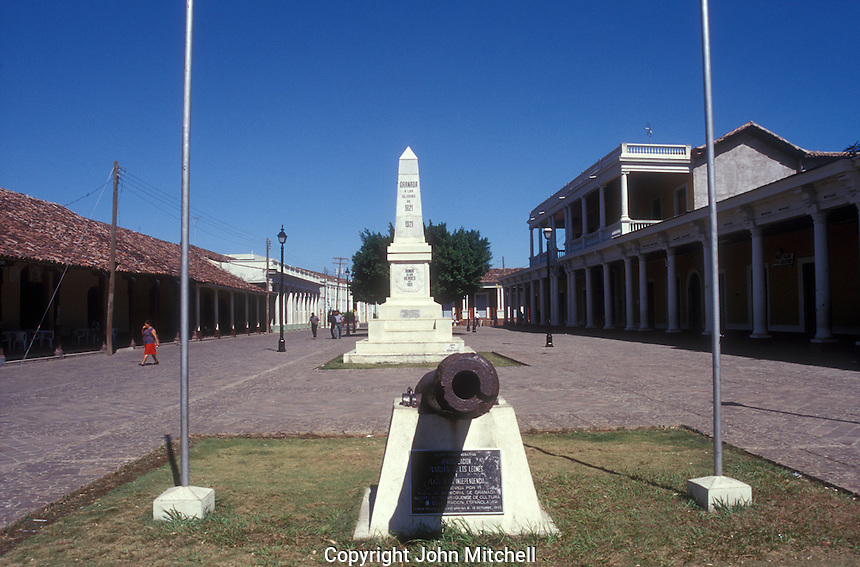 Nicaraguan independence monument in the Spanish colonial city of Granada, Nicaragua