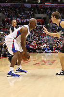 11/28/12 Los Angeles, CA: Los Angeles Clippers point guard Chauncey Billups #1 during an NBA game between the Los Angeles Clippers and the Minnesota Timberwolves played at Staples Center where the Clippers defeated the Timberwolves 101-95.