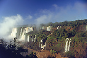 Iguassu Falls, Parana State, Brazil. View of the waterfalls.