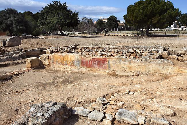 The Garden; Villa of El Munts; I Century AD, Tarragona (Tarraco, Hispania Citerior), Catalonia, Spain; one of the largest built on a hill overlooking the coast, only 12 km from Tarragona (Tarraco).
