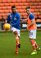 Blackpool's Curtis Tilt and Oliver Turton warm up<br /> <br /> Photographer Richard Martin-Roberts/CameraSport<br /> <br /> The EFL Sky Bet League One - Blackpool v Walsall - Saturday 10th February 2018 - Bloomfield Road - Blackpool<br /> <br /> World Copyright &not;&copy; 2018 CameraSport. All rights reserved. 43 Linden Ave. Countesthorpe. Leicester. England. LE8 5PG - Tel: +44 (0) 116 277 4147 - admin@camerasport.com - www.camerasport.com