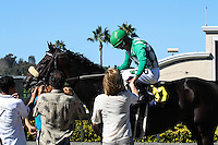 John Scott (#6) winner of the Harry F. Brubaker Stakes at Del Mar Race Course in Del Mar, California on September 1, 2012.