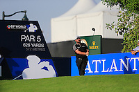 Shane Lowry (IRL) on the 14th tee during the Pro-Am for the DP World Tour Championship at the Jumeirah Golf Estates in Dubai, UAE on Monday 16/11/15.<br /> Picture: Golffile | Thos Caffrey<br /> <br /> All photo usage must carry mandatory copyright credit (© Golffile | Thos Caffrey)