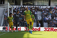Kenneth Zohore of West Bromwich Albion celebrates scoing from the penalty spot to make the score 1-1 during Derby County vs West Bromwich Albion, Sky Bet EFL Championship Football at Pride Park Stadium on 24th August 2019
